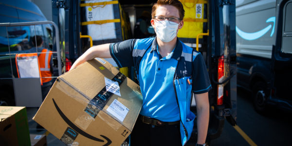 Delivery driver with package 3